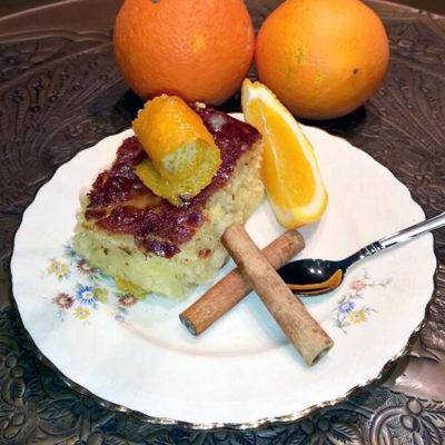 Πορτοκαλόπιτα με φύλλο Βηρυτού και γιαούρτι